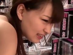 Pretty Japanese girlfriend Yukiko Suoh has sexy tanned skin, skinny body and cute face, but this horny boyfriend is interested in her hairy but very accurate pussy!