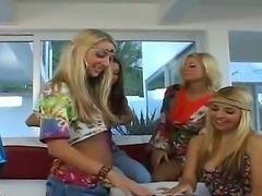 Blonde sex kitten Nikki masturbating with big desire