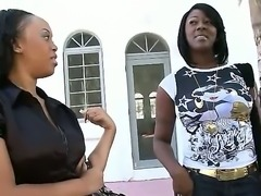 Two seductive ebony gals Barbie Banx