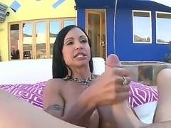 Attractive arousing black haired milf Jewels