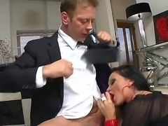 Fantastic gentleman without pants Rocco Siffredi is giving is cock to...