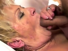 This handsome sporty guy cant imagine life without fucking old chicks. This time is not the exception and now he is licking and screwing hairy loving hole of sexy blonde granny.