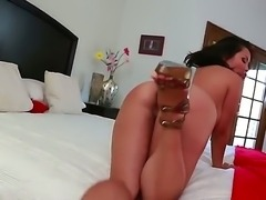 Asian brunette Jessica Bangkok loves having her huge tits and tight pussy pounded by hunk Jordan Ash