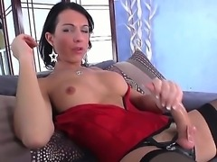 TS Danika Dreamz in black stockings