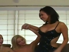 Kina Kai and Sammie Rhodes as well as several other girl gathered together to...