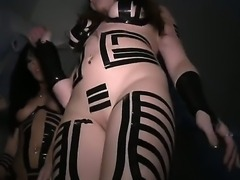 Thats real party! Some astounding and exciting babes with gorgeous facial features and charming bodies in super sexy uniform demonstrating their treasures and become dirty.