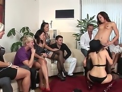 Bibi Fox, Denis Reed, George Uhl, Leonelle Knoxville, Mark Zicha, Niki Sweet and others in group sex scene