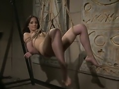 Bound horny slut Aleksandra Black gets tortured sweet by her hot master Antonio