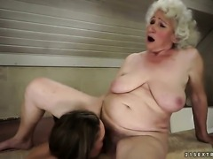 Brunette hooker Norma with juicy jugs is on the edge of nirvana after lesbian sex with Vicky Braun