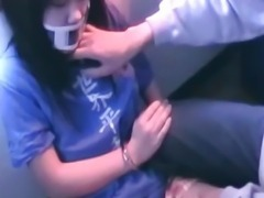 Handcuffed Asian Teen Gets Fucked