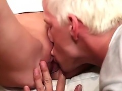 Bisexual fuck with a horny babe Bella Karina, David Gold and Denis Reed