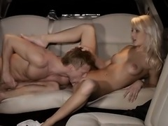 Extreme group coitus in limo