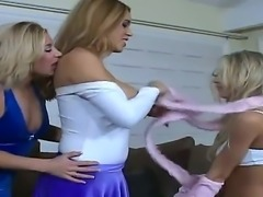 Lesbian action with horny chicks named Megan Jones, Nikki and Sammie Rhodes