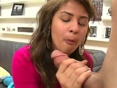 Sexual Latina diva Esperanza Rojas gets undressed and licked by pretty man. He plays with her sweet pussy well before getting cool blowjob and tugjob from the hottie.