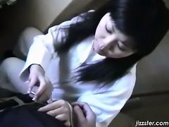 Hot Asian school girl gets nasty as she