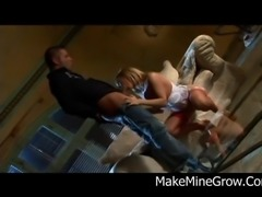Blonde in this clip gags like never before