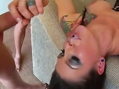 Very slutty and beautiful chicks are going to give unforgettable deepthroat fellatios to their hugecocked perverted boyfriends. Enjoy seeing the nice hardcore fuck.