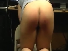 Real merciless spanking punishment for submissive slut Babara.  Red ass full of welts. Moaning in agony. She deserved this BDSM Spanking punishment. More following soon.