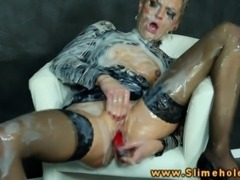Sophia getting covered in bukkake at the gloryhole in hd