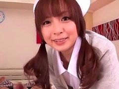 This beautiful Japanese nurse knows whats what in treating men and she got her own way of it. She does it through tugjobs and now the babe gonna show us how she does it.