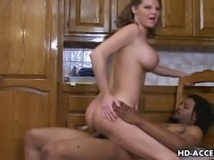 Kinky blonde babe Kayla Quinn loves having a wild ride on her lover's hard dick. She groans loud while sliding her delicate moist pussy down her lover's stiff wang. He grabs her lovely round ass and gropes it lustfully while his thick cock is drilling her wet snatch.