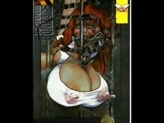 Beautiful artworks of huge breast women tied with ropes and leather for sex by Master fetish artists.