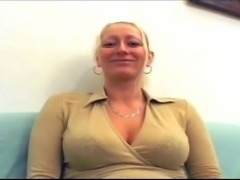 Big tits blonde milf knows what she need to do on the job interview
