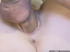 Hot blonde girl masurbates yummy pussy to gets deep nailed in all tight holes till cumshot and squirt.