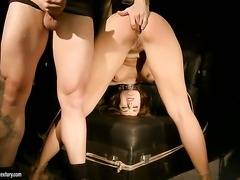 Brunette Andy Brown sucking like it aint no thing in blowjob action with hot blooded guy