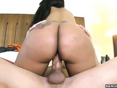 Elianie Jordawn with juicy bottom gets down and dirty in cum flying sex action