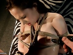 Brunette Alesya gets boned in her muff