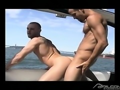 Michael Brandon pumps Shane Rollins eager asshole on a yacht