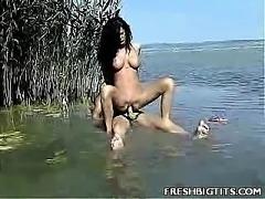 Big Tit Ursula Outdoor Fuck