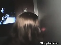 Long Haired Amateur Beauty Sucks Dick At Glory Hole