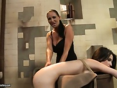 Brunette hooker Ann Marie La Sante and Mandy Bright both have fierce appetite for lesbian sex