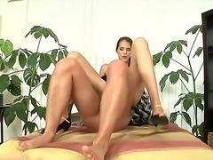 Long legged babe Silvie Deluxe knows how to seduce her friends husband Tarzan