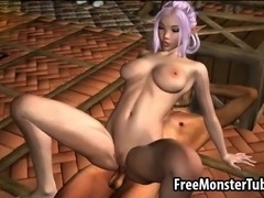 Mouth watering 3D cartoon elf honey getting her soaking wet pussy licked and fucked hard