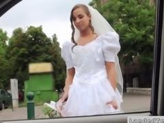 Rejected bride fucks in a strangers car