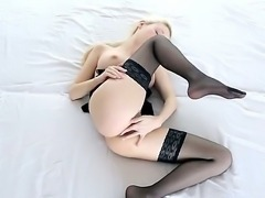 Nancey is our hot blonde and she loves to masturbate for the audience. Moreover, today she put on sexy black lingerie to deliver extra pleasure. Are you ready to see this cool babe in action