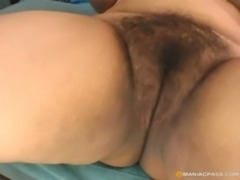 Plump hairy pussy on big cock free