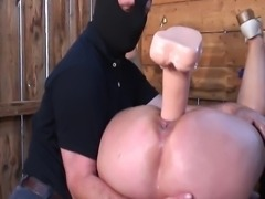 Fat mature lady gets a bdsm treatment from her master.