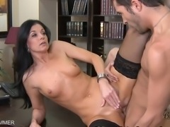 MILF india Summer sucks on a cock before taking cock on the office desk