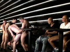 Andrew Stark and pals cum at an orgy