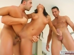 Behold a super cute tanned chick ready to get her first cream filling. A...
