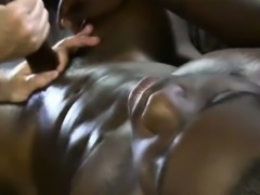 Gaysex ebony sucked and tugged