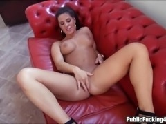 Sexy receptionist Athina Love got smooth tan skin natural tits and a perfect round ass This dude offerd her money to show off her tits she takes the money and takes off her dress then he offered more to fuck her whick she immediately agreed and they have a good time fucking