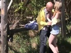 Abby gargling man rod outdoor