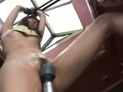 Rina Rukawa is fucked with vibrators