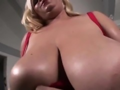 Thick Blonde Chick With Monster Boobs