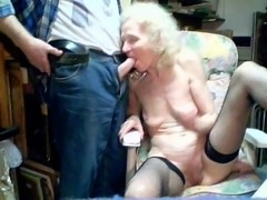 Old Granny 70 years suck by grandson